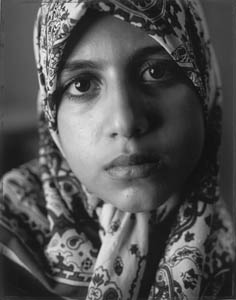 photo of woman in headscarf